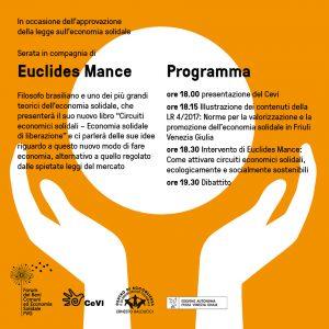 CIRCUITI ECONOMICI SOLIDALI. Economia solidale di liberazione Incontro con Euclides Andrè Mance @ Centro Balducci | Zugliano | Friuli-Venezia Giulia | Italia