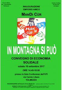 In Montagna si Può - Convegno di Economia Solidale @ Sala della Conferenza dell'UTI | Tolmezzo | Friuli-Venezia Giulia | Italia