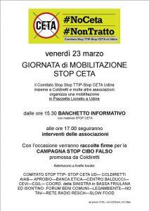 Giornata di Mobilitazione #STOPCETA @ Piazzetta Lionello | Udine | Friuli-Venezia Giulia | Italia