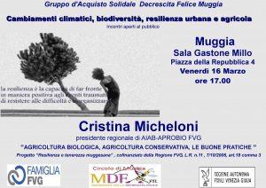 Cambiamenti Climatici, Biodiversità, Resilienza Urbana e Agricola @ Sala Convegni Del Centro Culturale Gastone Millo | Muggia | Friuli-Venezia Giulia | Italia