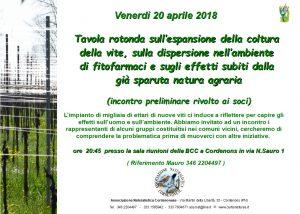 Tavola rotonda: espansione della vite, uso fitofarmarci @ Sala Riunioni BCC | Pordenone | Friuli-Venezia Giulia | Italia