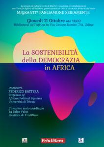La SOSTENIBILITA' della DEMOCRAZIA in AFRICA. @ Biblioteca dell'Africa | Udine | Friuli-Venezia Giulia | Italia