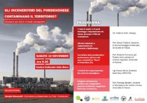 """""""Gli inceneritori del pordenonese contaminano il territorio?"""" @ Centro Culturale Aldo Moro   Cordenons   Friuli-Venezia Giulia   Italia"""