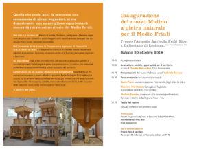 Inaugurazione del nuovo Mulino a pietra naturale per il Medio Friuli @ Azienda Agricola Friûl Bios | Galleriano | Friuli-Venezia Giulia | Italia