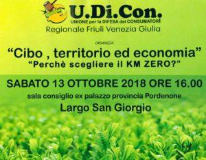 Cibo, territorio ed economia - Perchè scegliere il KM0? @ sala ex consiglio provinciale | Pordenone | Friuli-Venezia Giulia | Italia