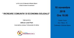 Ricreare comunità di Economia Solidale @ Centro Civico   Colloredo di Monte Albano   Friuli-Venezia Giulia   Italia