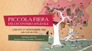 Piccola Fiera dell'Economia Solidale (Monfalcone) @ Ricreatorio Foschian | Monfalcone | Friuli-Venezia Giulia | Italia
