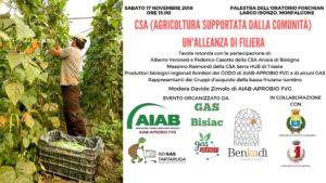 CSA: un'alleanza di filiera @ Palestra dell'Oratorio Foschian   Monfalcone   Friuli-Venezia Giulia   Italia