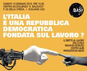L'italia È Una Repubblica Democratica Fondata Sul Lavoro? @ Centro Di Accoglienza Ernesto Balducci