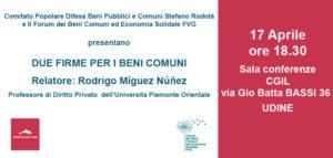 2 Firme per i Beni Comuni @ Sala conferenze CGIL