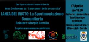 LANZA DEL VASTO La sperimentazione comunitaria @ Oratorio parrocchia San Giuseppe artigiano