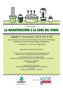 """Convegno """"La manutenzione e la cura del verde"""" @ Sala Convegni Centro Direzionale Consorzio Ponte Rosso"""