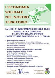 L'economia Solidale nel Nostro Territorio @ Sala Consigliare Farra d'Isonzo
