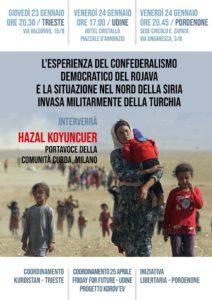 Rojava- confederalismo democratico e invasione della Turchia @ Hotel Cristallo
