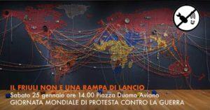 Manifestazione ad Aviano contro la guerra @ Piazza Duomo