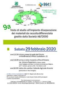 visita impianto di separazione materiali da raccolta differenziata gestito da A&T2000 @ ImpiantoA&T2000 Rived'Arcano