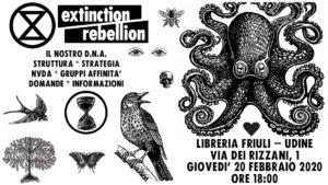 """Extinction Rebellion- Presentazione """"Il nostro DNA"""" @ Libreria Friuli"""