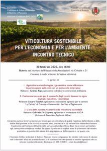 Viticoltura Sostenibile per l'Economia e per l'Ambiente: Incontro Tecnico @ Palazzo delle Associazioni