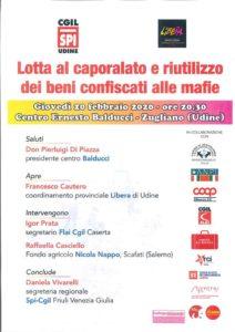 Lotta al caporalato e riutilizzo dei beni confiscati alle mafie @ Centro Di Accoglienza Ernesto Balducci